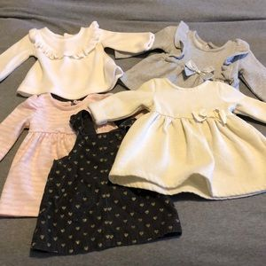 Baby Girl Holiday Outfit Bundle 0-3
